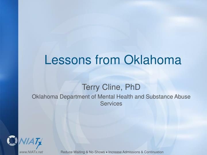 Lessons from Oklahoma