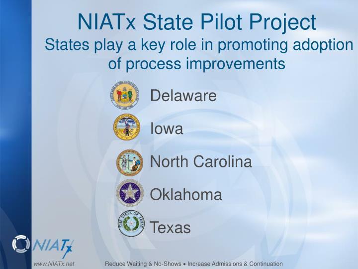 NIATx State Pilot Project