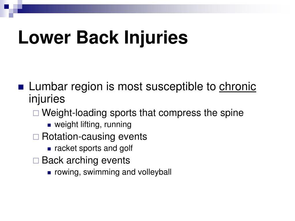 Lower Back Injuries