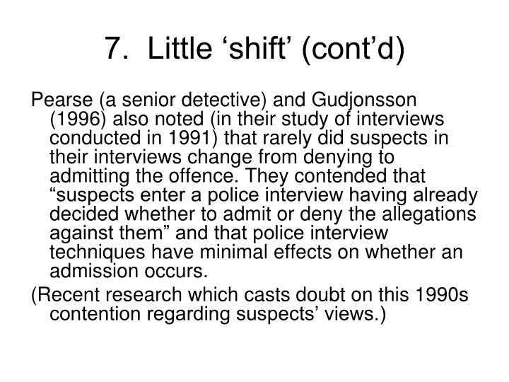 7.  Little 'shift' (cont'd)