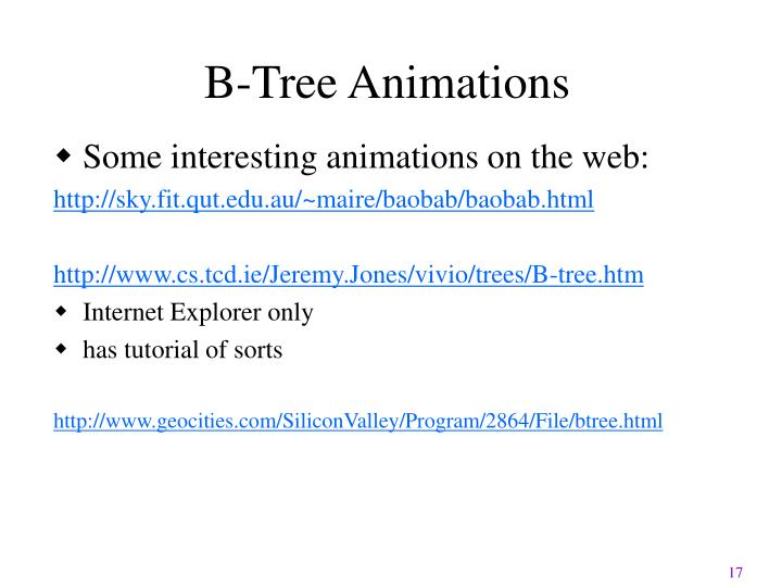 B-Tree Animations