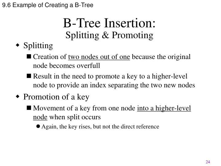 9.6 Example of Creating a B-Tree
