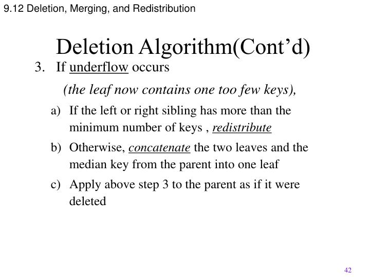 9.12 Deletion, Merging, and Redistribution