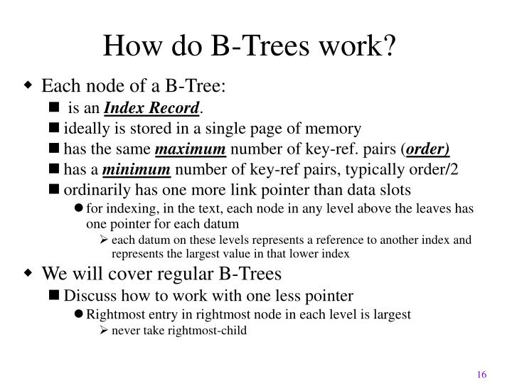 How do B-Trees work?