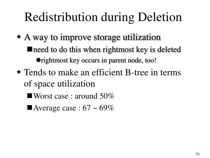 Redistribution during Deletion