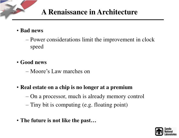 A Renaissance in Architecture