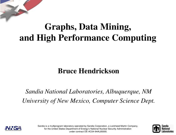 Graphs data mining and high performance computing