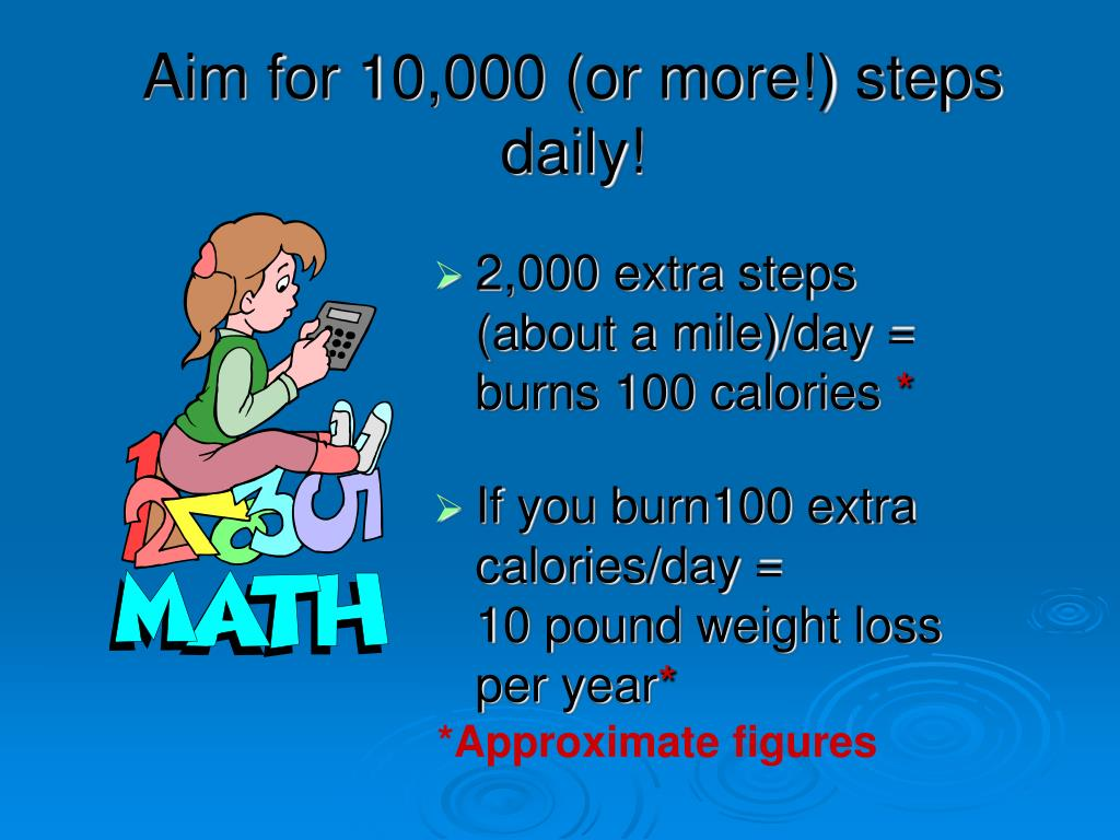 Aim for 10,000 (or more!) steps daily!