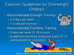 exercise guidelines for overweight children