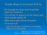 simple ways to increase activity