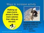 ways to increase activity