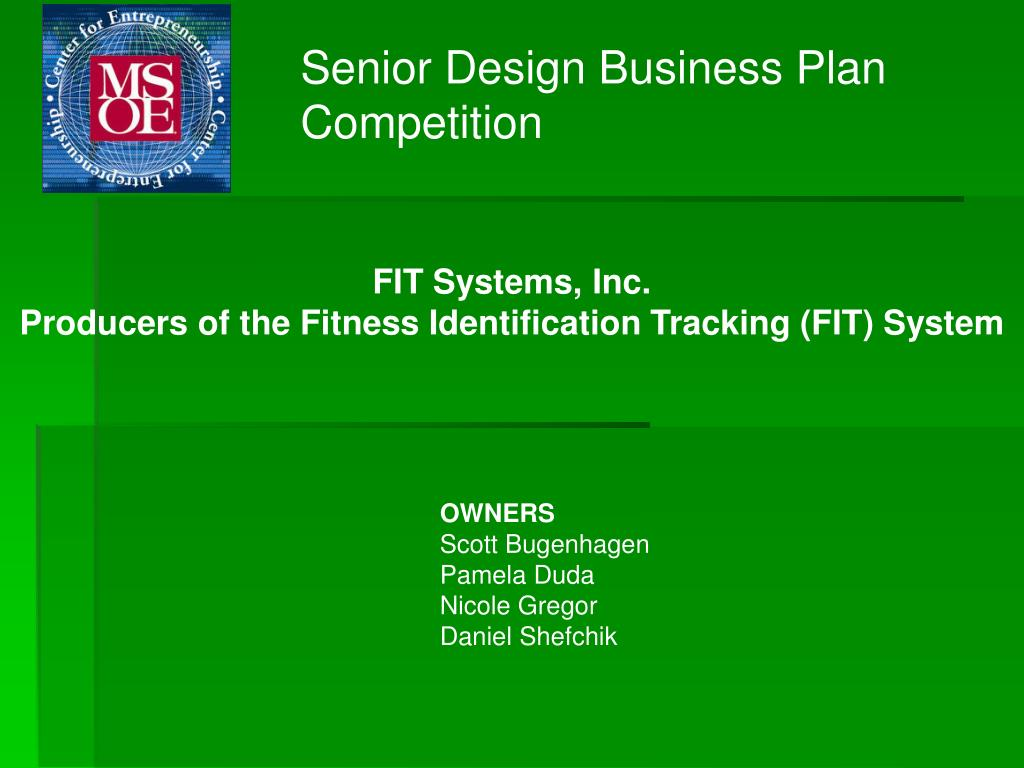 Senior Design Business Plan Competition