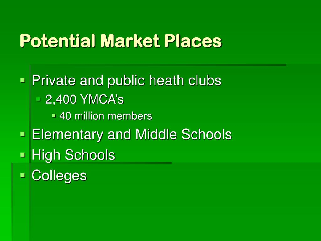 Potential Market Places