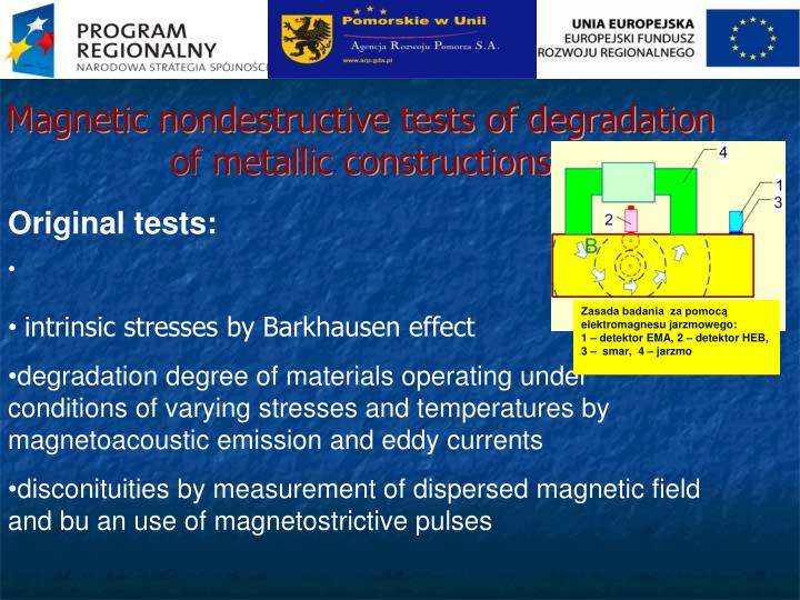 Magnetic nondestructive tests of degradation