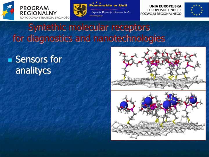 Syntethic molecular receptors
