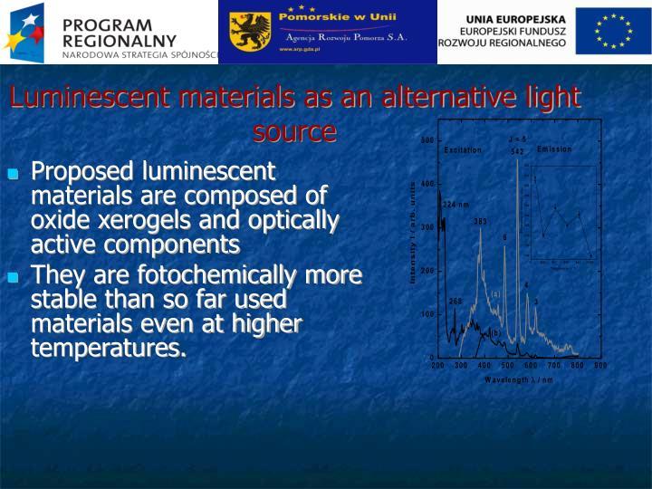 Luminescent materials as an alternative light source