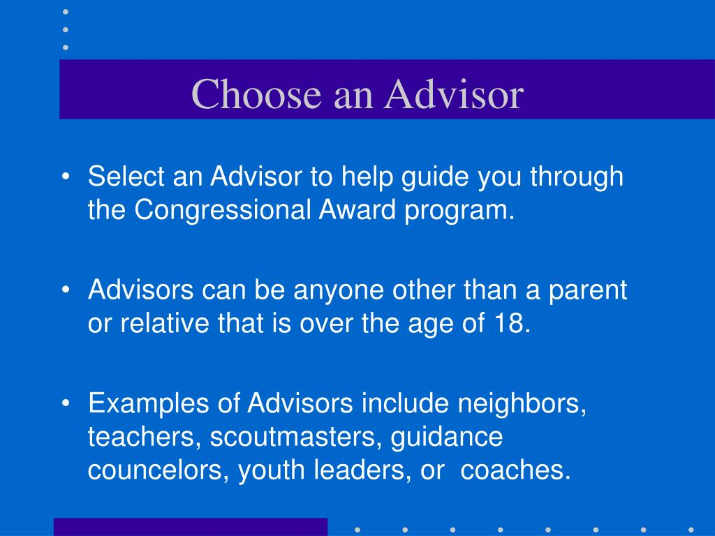 Choose an Advisor