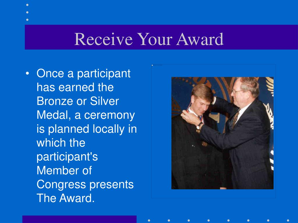 Receive Your Award