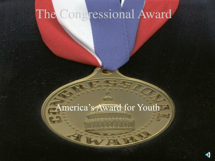 The congressional award