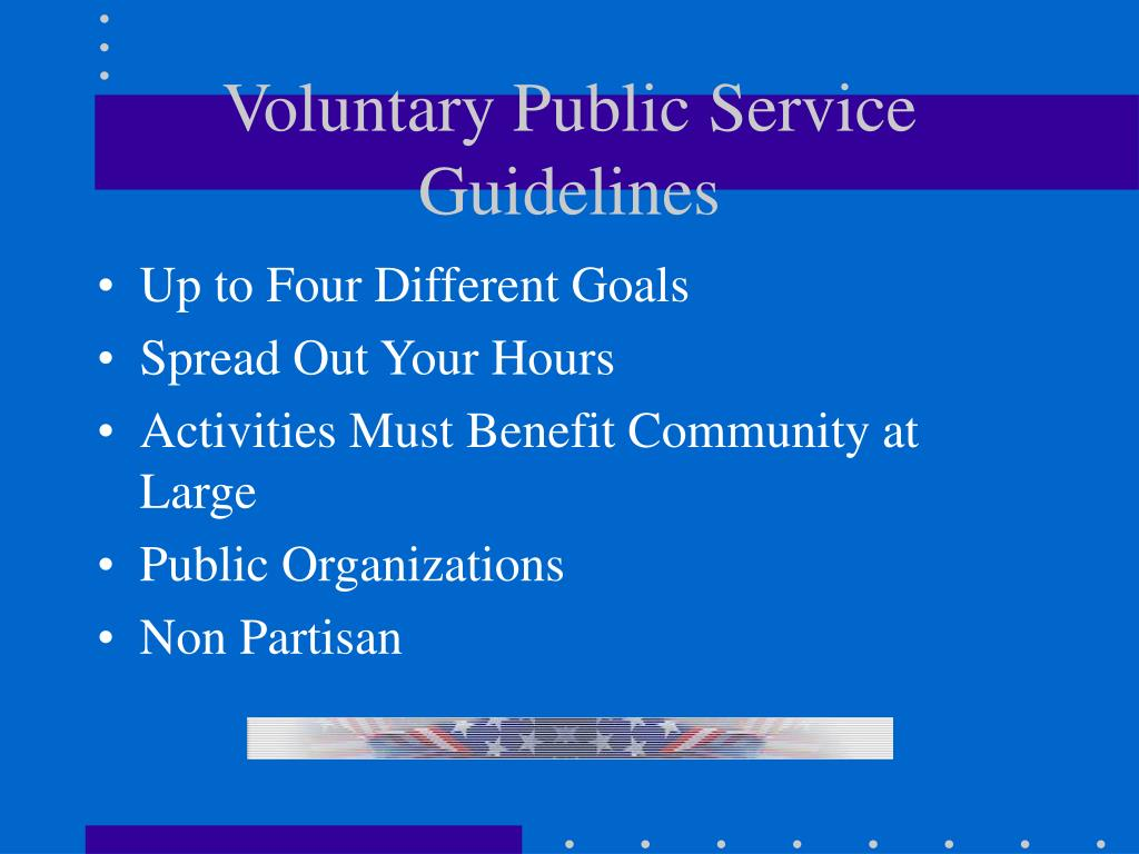 Voluntary Public Service Guidelines