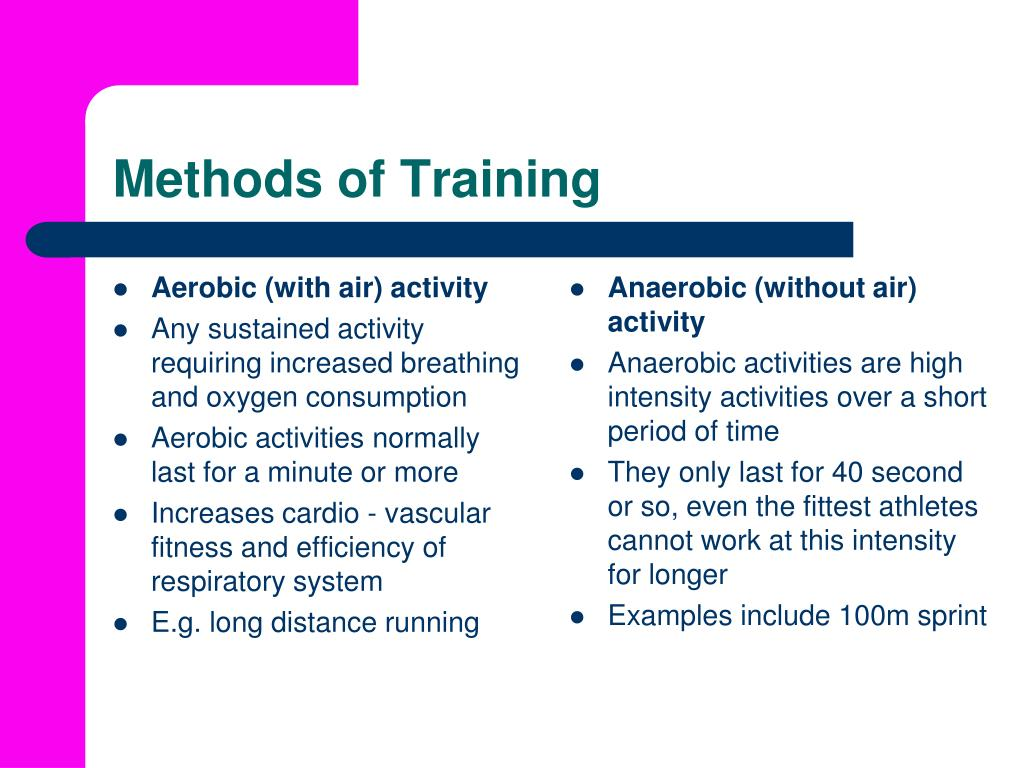 Aerobic (with air) activity