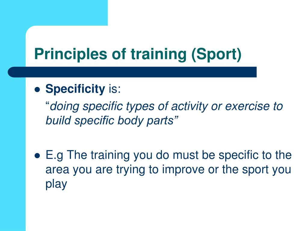 Principles of training (Sport)