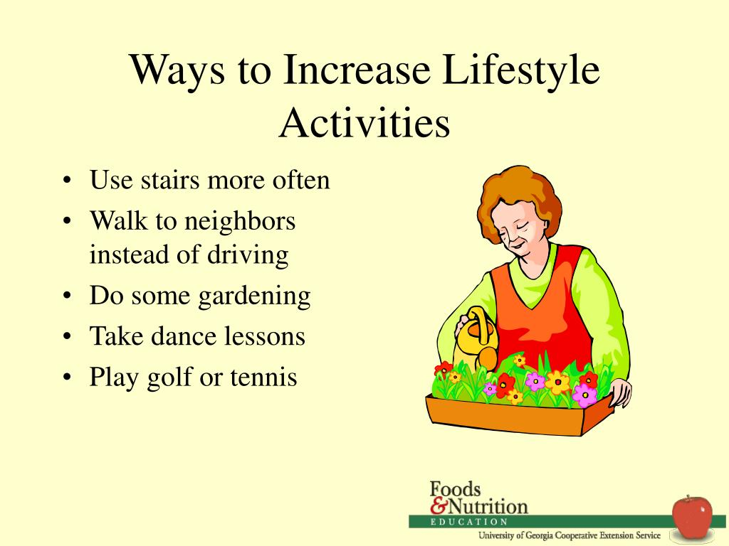 Ways to Increase Lifestyle Activities