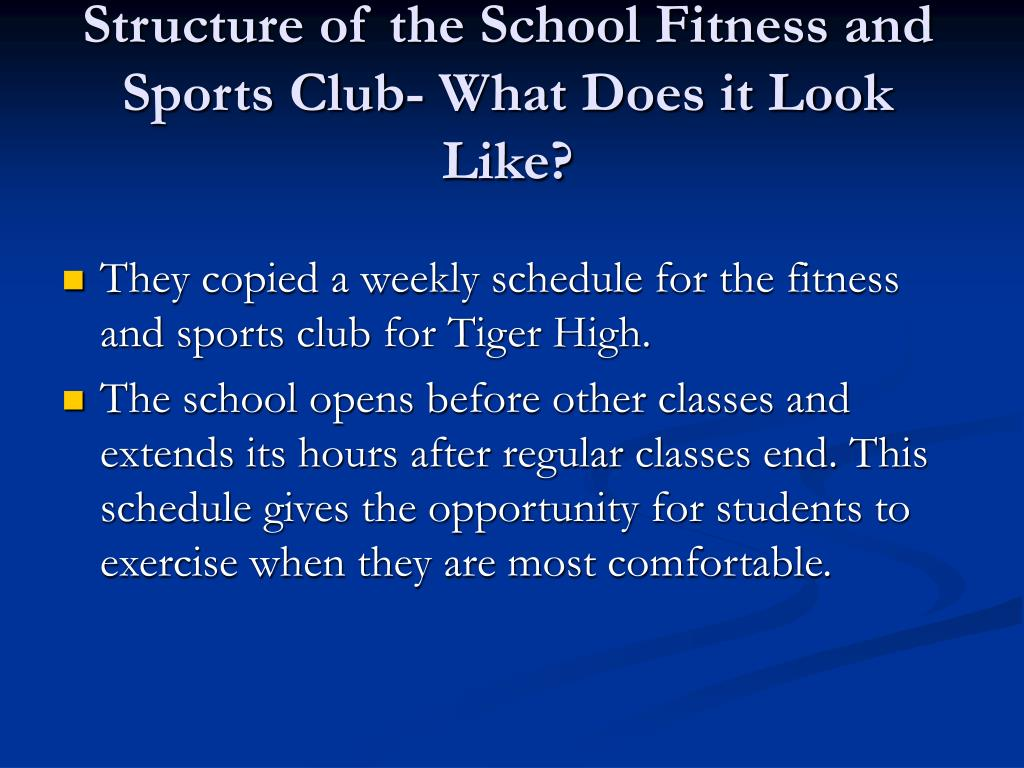 Structure of the School Fitness and Sports Club- What Does it Look Like?