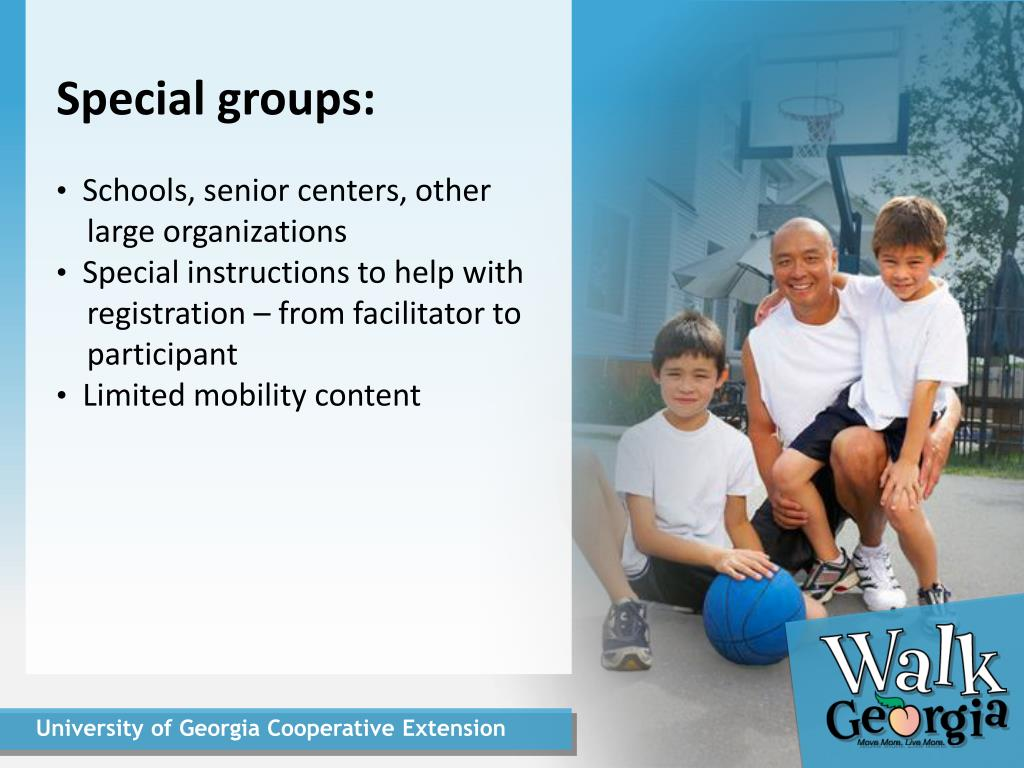 Special groups: