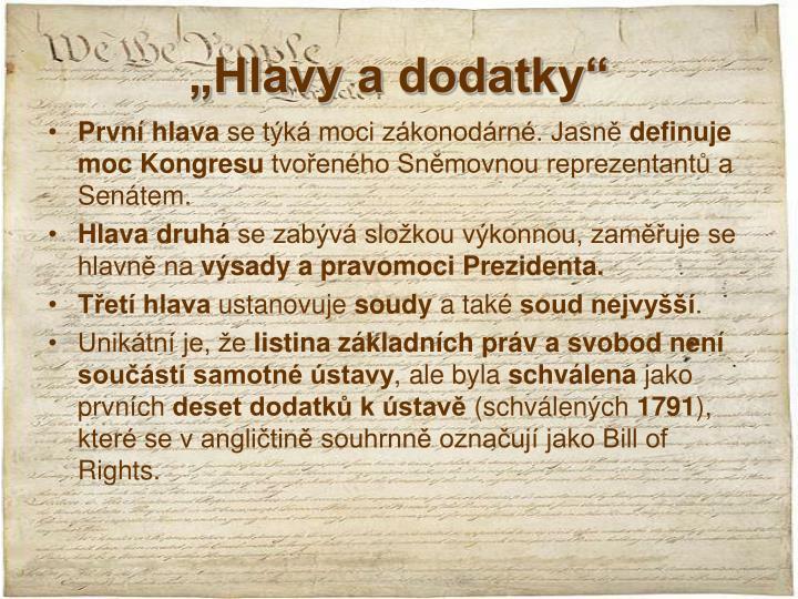 """""""Hlavy a dodatky"""""""