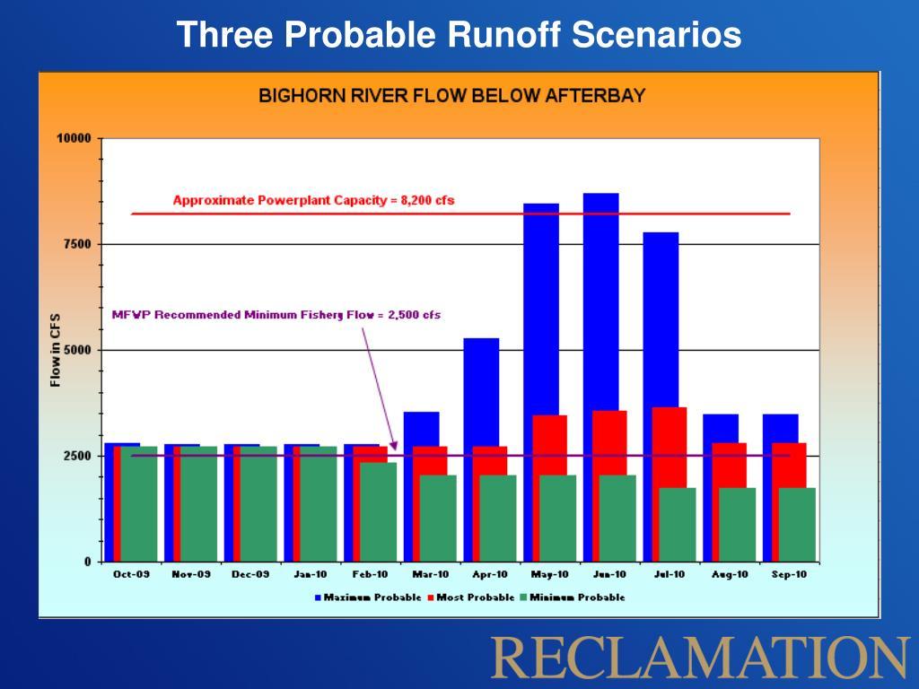 Three Probable Runoff Scenarios