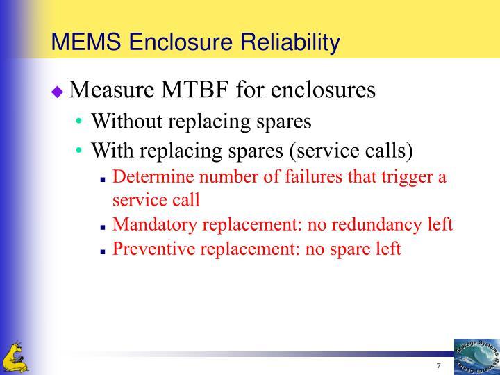 MEMS Enclosure Reliability