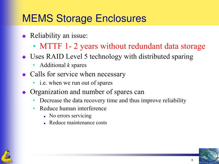MEMS Storage Enclosures