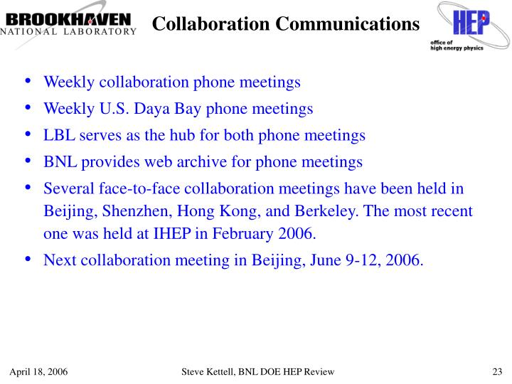 Collaboration Communications