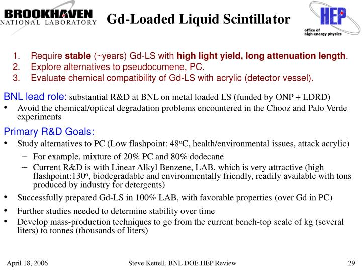 Gd-Loaded Liquid Scintillator
