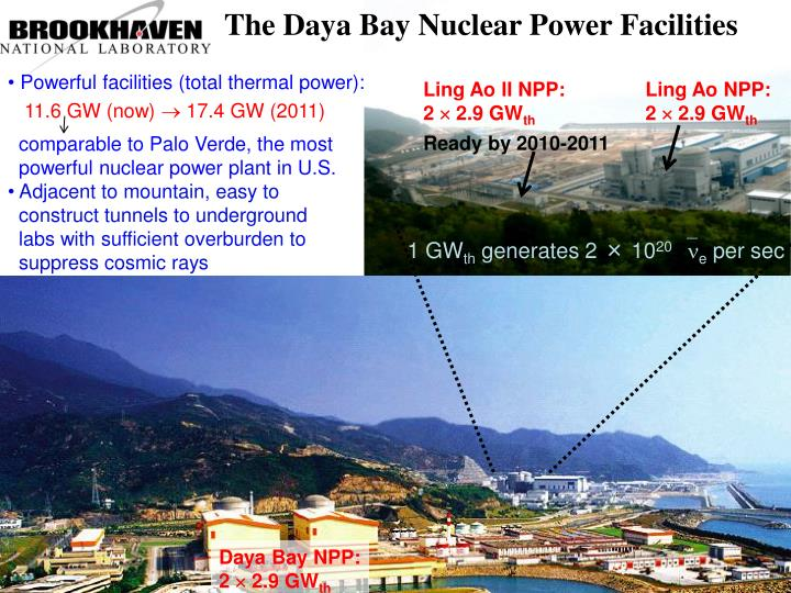 The Daya Bay Nuclear Power Facilities