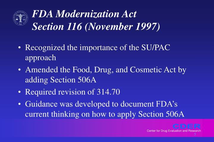 FDA Modernization Act