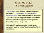 sitting bull a great leader