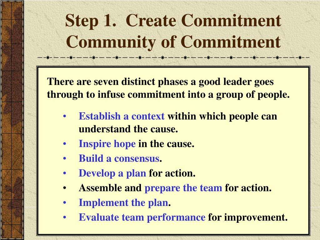 Step 1.  Create Commitment