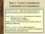 step 1 create commitment community of commitment19