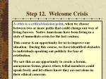 step 12 welcome crisis55