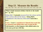 step 13 measure the results61