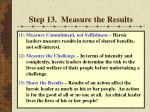 step 13 measure the results62