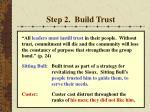 step 2 build trust