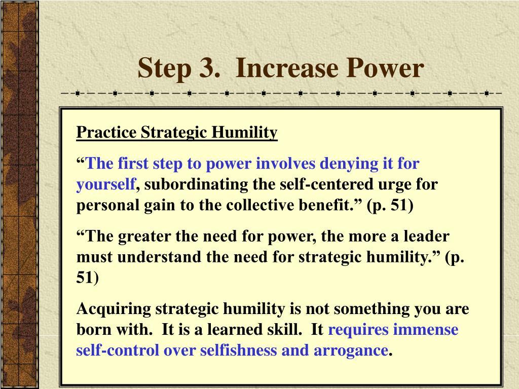 Step 3.  Increase Power