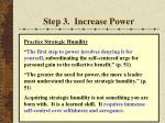 step 3 increase power
