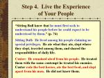 step 4 live the experience of your people