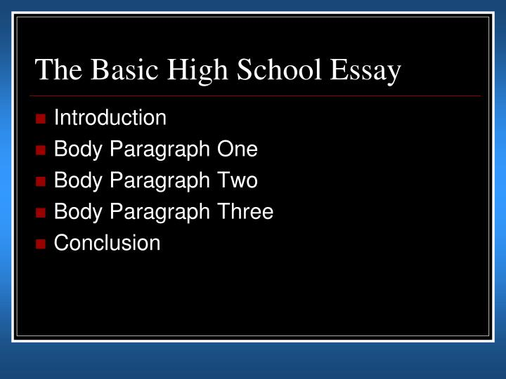 Five paragraph essay powerpoint