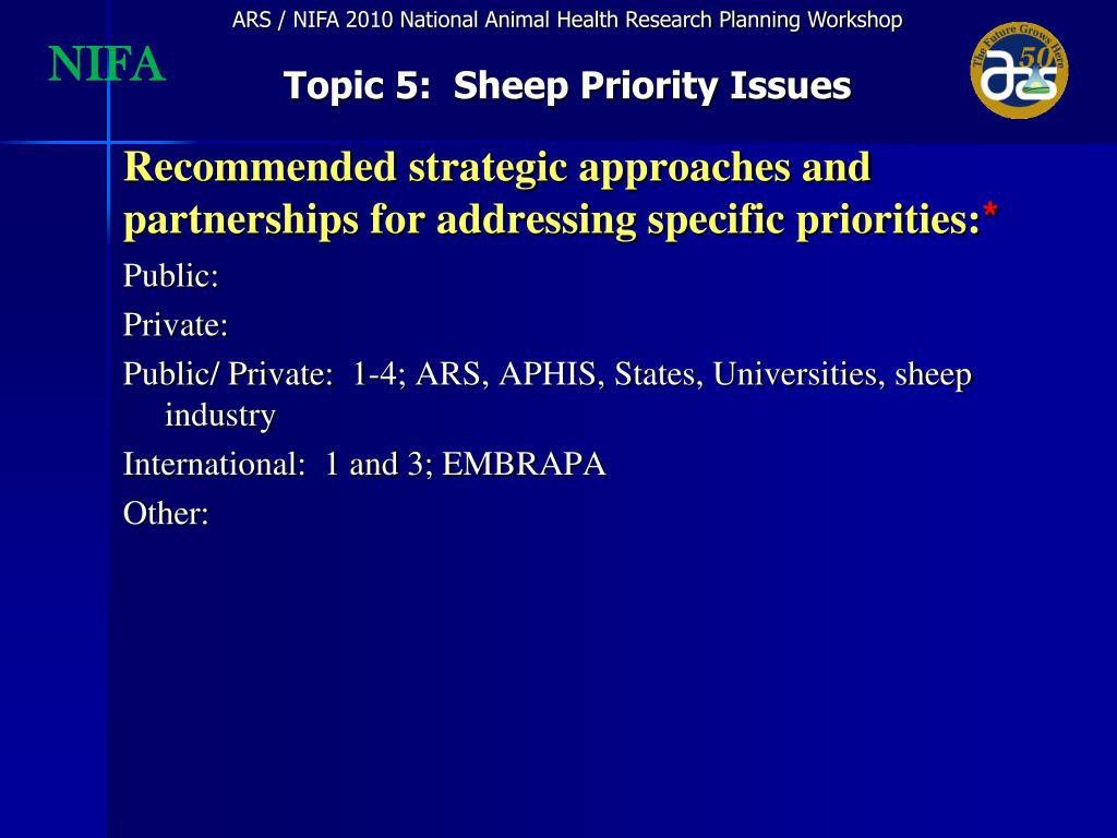 Recommended strategic approaches and partnerships for addressing specific priorities: