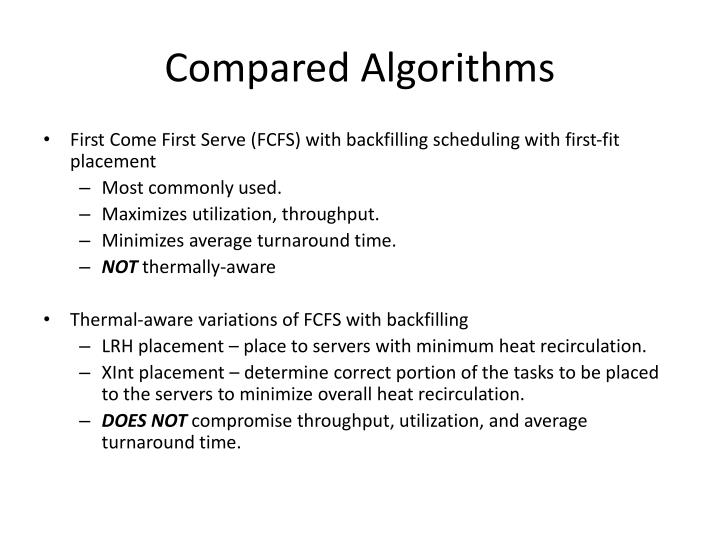 Compared Algorithms